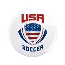 "Soccer Crest USA 3.5"" Button"
