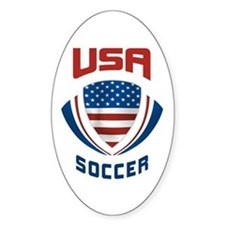Soccer Crest USA Decal