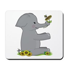 Animal Alphabet Elephant Mousepad