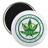 "GO GREEN 2.25"" Magnet (10 pack)"