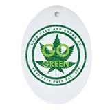 GO GREEN Ornament (Oval)