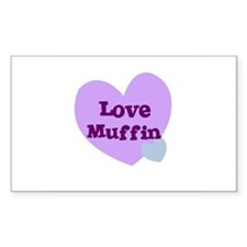 Love Muffin Rectangle Decal