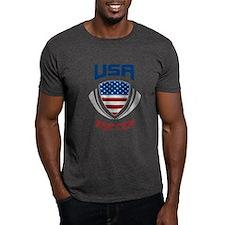 Soccer Crest USA blue T-Shirt