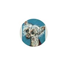 Portrait of a Chinese Crested Mini Button (10 pack