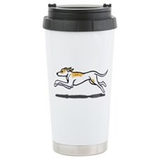 Running Greyhound Ceramic Travel Mug