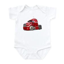 Peterbilt 587 Red Truck Infant Bodysuit