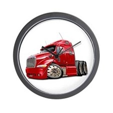 Peterbilt 587 Red Truck Wall Clock
