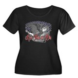 Live Free or Die Women's Plus Size Scoop Neck Dark