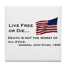 """Live Free or Die"" Tile Coaster"