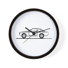 1966 Alfa GTA GTV Wall Clock