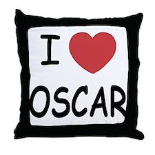 I heart Oscar Throw Pillow