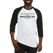World's Best Dad - Software Eng Baseball Jersey