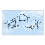 Breathe Sticker (Rectangle)