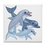 Dolphin Family Tile Coaster