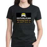 Republican Working Hard Women's Dark T-Shirt
