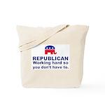 Republican Working Hard Tote Bag