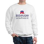 Republican Working Hard Sweatshirt