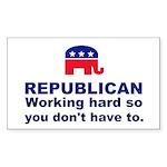 Republican Working Hard Sticker (Rectangle)