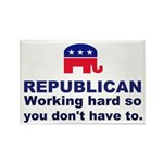 Republican Working Hard Rectangle Magnet (100 pack