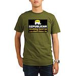 Republican Working Hard Organic Men's T-Shirt (dar