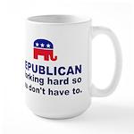 Republican Working Hard Large Mug