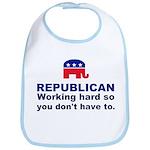 Republican Working Hard Bib