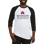 Republican Working Hard Baseball Jersey