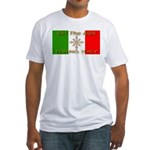 Ski The Alps Torino Italy Fitted T-Shirt