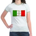 Ski The Alps Torino Italy Jr. Ringer T-Shirt