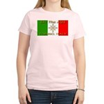 Ski The Alps Torino Italy Women's Pink T-Shirt