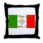 Ski The Alps Torino Italy Throw Pillow