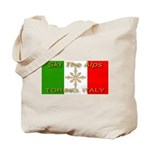 Ski The Alps Torino Italy Tote Bag