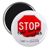 "Stop Fake Server Crashes 2.25"" Magnet (100 pack)"