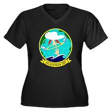 HC-1 Women's Plus Size V-Neck Dark T-Shirt