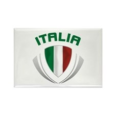 Soccer Crest ITALIA Rectangle Magnet