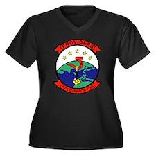 HC-5 Women's Plus Size V-Neck Dark T-Shirt