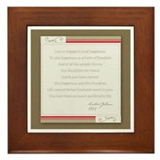 Kahlil Gibran Happiness Framed Tile