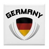 Soccer Crest GERMANY Tile Coaster