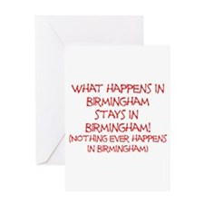 What happens in Birmingham... Greeting Card