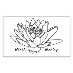 Lotus Birth Rectangle Sticker