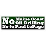 Offshore Oil Paul LePage Bumper Sticker