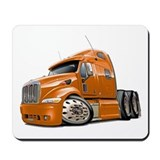 Peterbilt 587 Orange Truck Mousepad