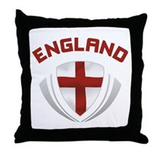 Soccer Crest ENGLAND red / grey Throw Pillow