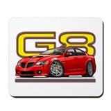 Red Pontiac G8 Mousepad