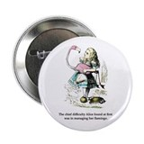 "Alice in Wonderland 2.25"" Button"
