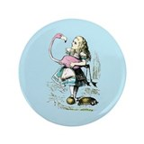 "Alice in Wonderland 3.5"" Button"