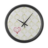 Garlic, please. Large Wall Clock