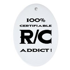 """R/C Addict"" - Oval Ornament"