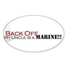 Back Off!-My Uncle is a Marin Decal