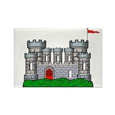 Fantasy medieval castle Rectangle Magnet